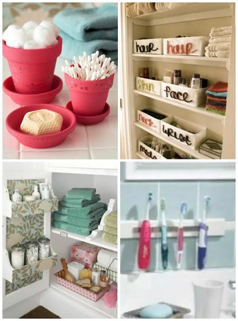 Organizar o banheiro