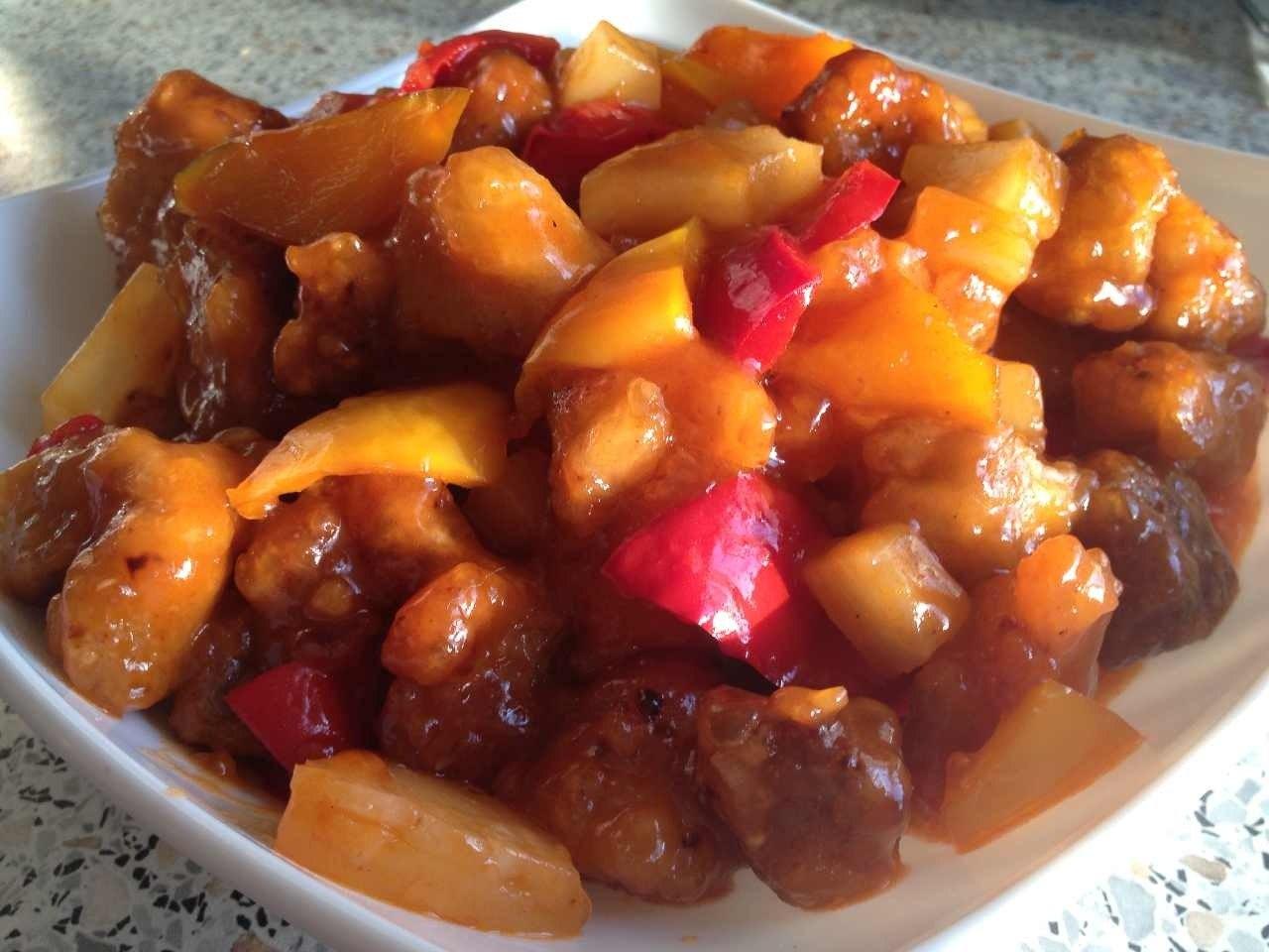 Мясо в кисло сладком соусе рецепт пошагово