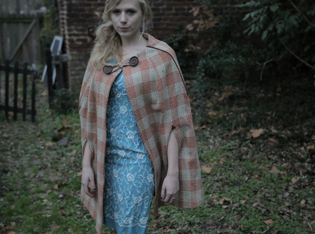 Earthy Plaid Cape #vintage #cape