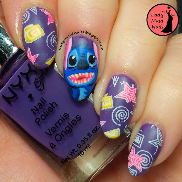 lady maid nails lilo and stitch