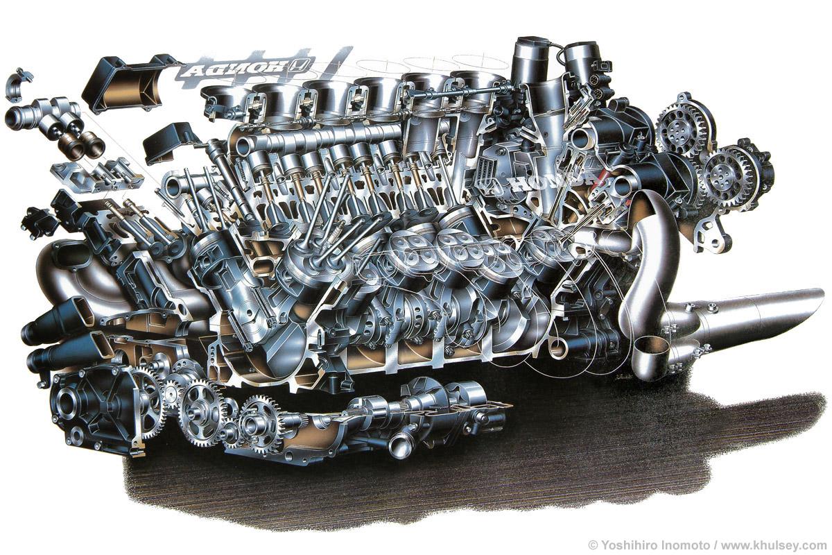 jaguar aj v8 engine cutaway  jaguar  free engine image for
