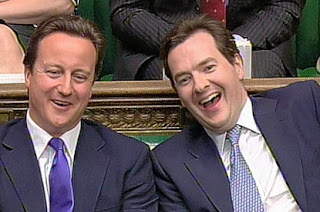 David Cameron and George Osborne evil