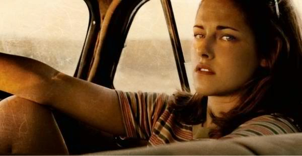 kristen stewart on the road
