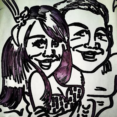 Girlfriend and boyfriend drawing