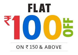 Flat Rs.100 OFF on Purchase of Rs.150 (Account Specific)