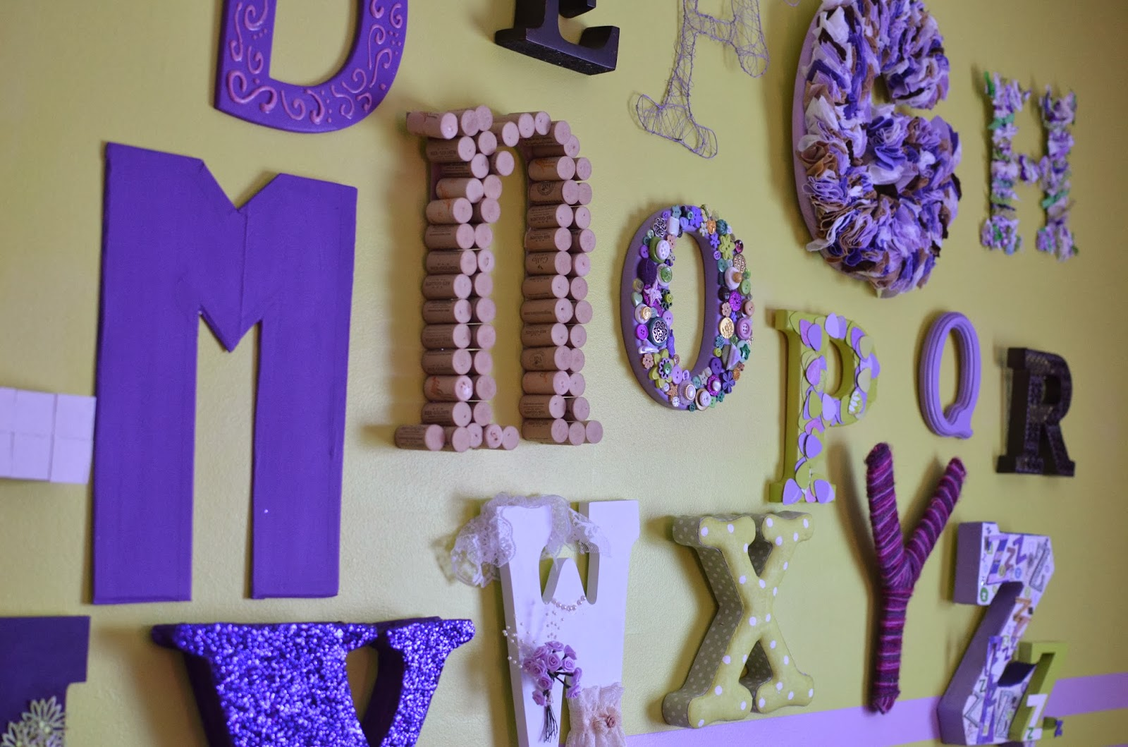 When I Was Pregnant With My Daughter (2 Years Ago), I Was Inspired By All  Of These Lovely Images I Found All Over The Internet Of Eclectic Alphabets  Hung In ...
