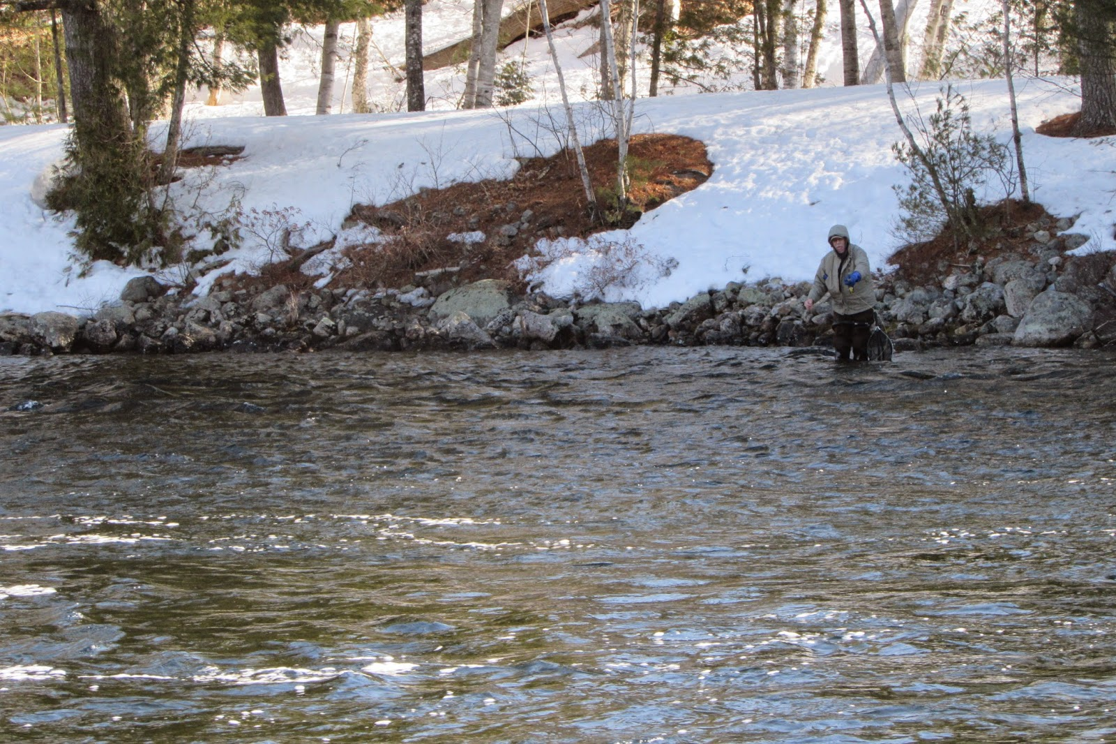 Grand lake stream on opening day 2015 for Fish and stream
