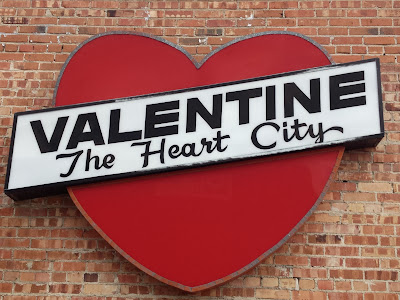 Heart shaped sign in Valentine, Nebraska The Heart City