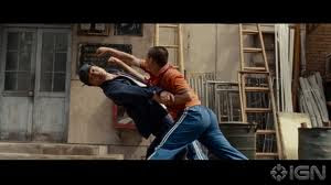 jackie chan defend karate kid enemy 2012