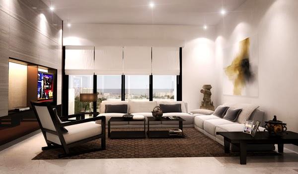 d coration salon moderne et minimaliste d coration salon d cor de salon. Black Bedroom Furniture Sets. Home Design Ideas