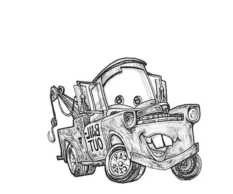 interesting with mater coloring pages
