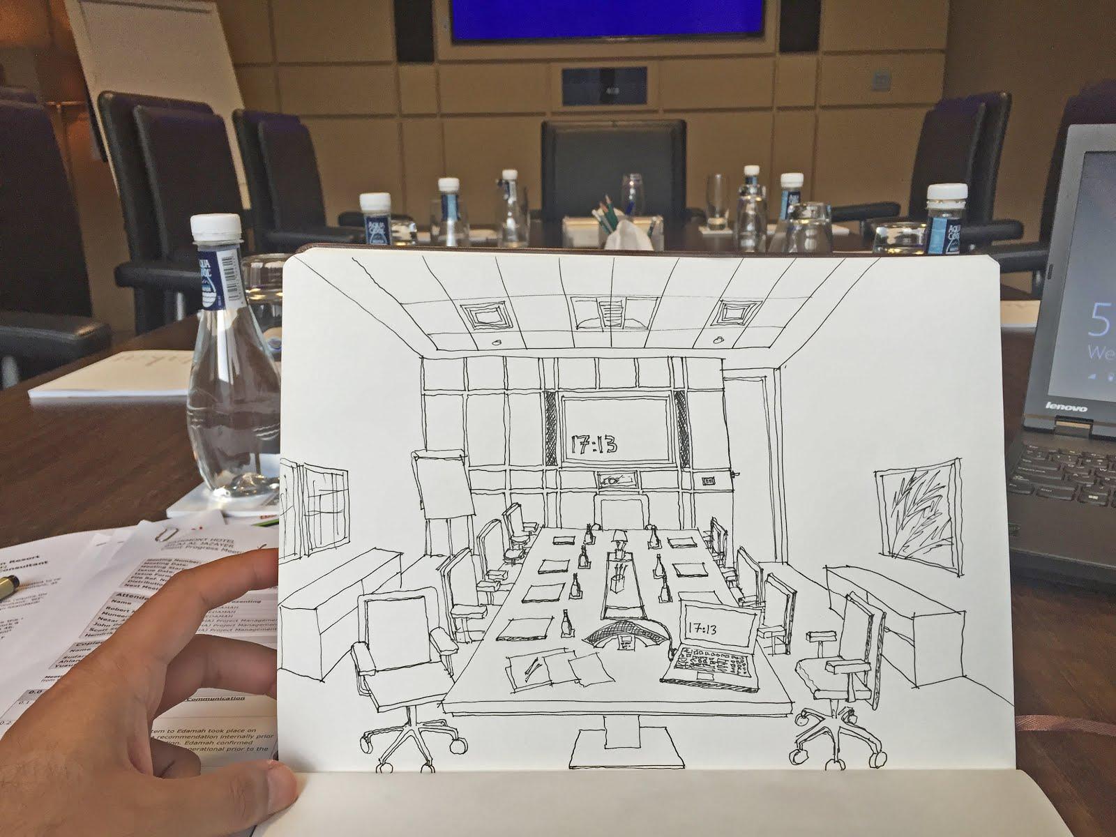 & a personal online sketchbook: Desk/Workspace Sketch