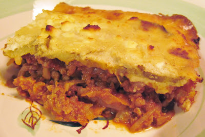 low-carb meat-lover's moussaka