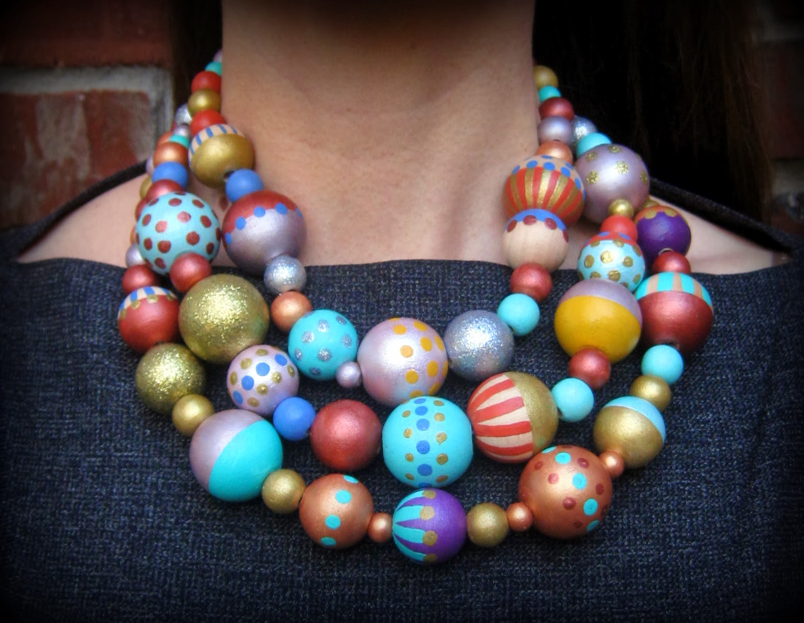 stephens diy a painted bead necklace