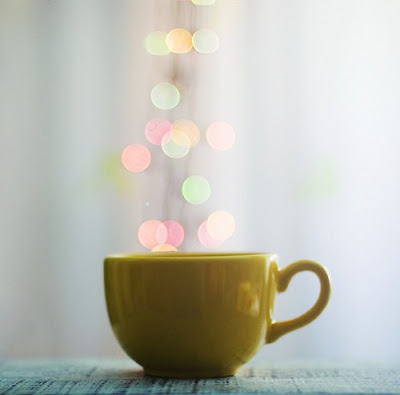 yellow teacup bokeh