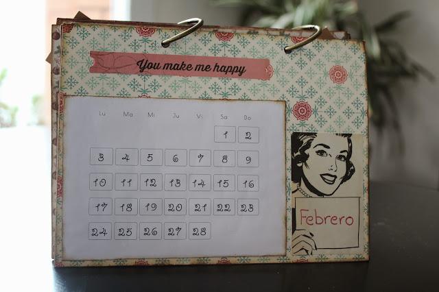 Calendario scrapbooking febrero