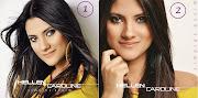 A cantora postou ontem (27) duas fotos de capa do CD para seus fãs .