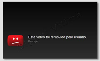Aviso - Vídeo do You Tube removido