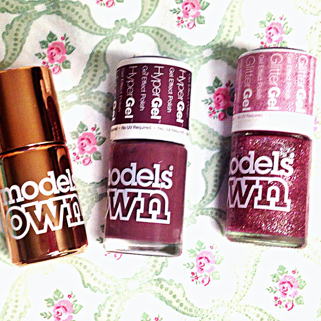 Models Own HyperGel Twilight, HyperGlitter Crystal Pink, Chrome Colour Copper | ACupofT