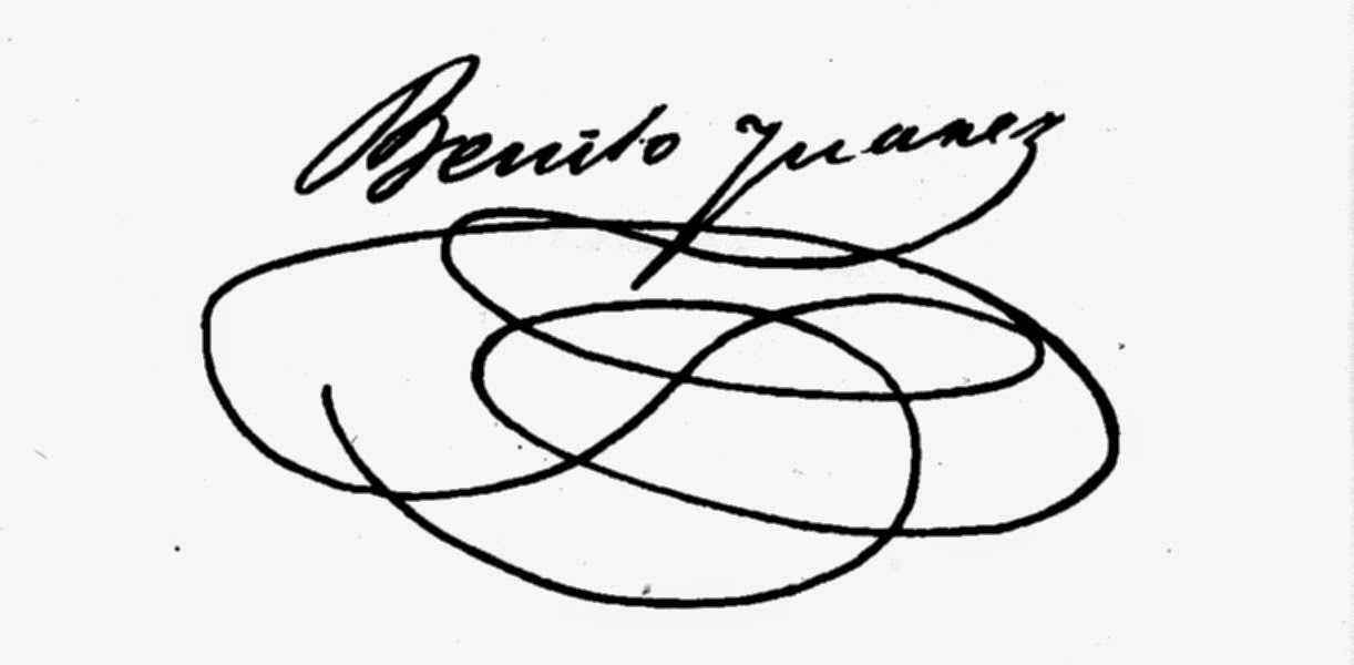 Firma de Benito Juárez