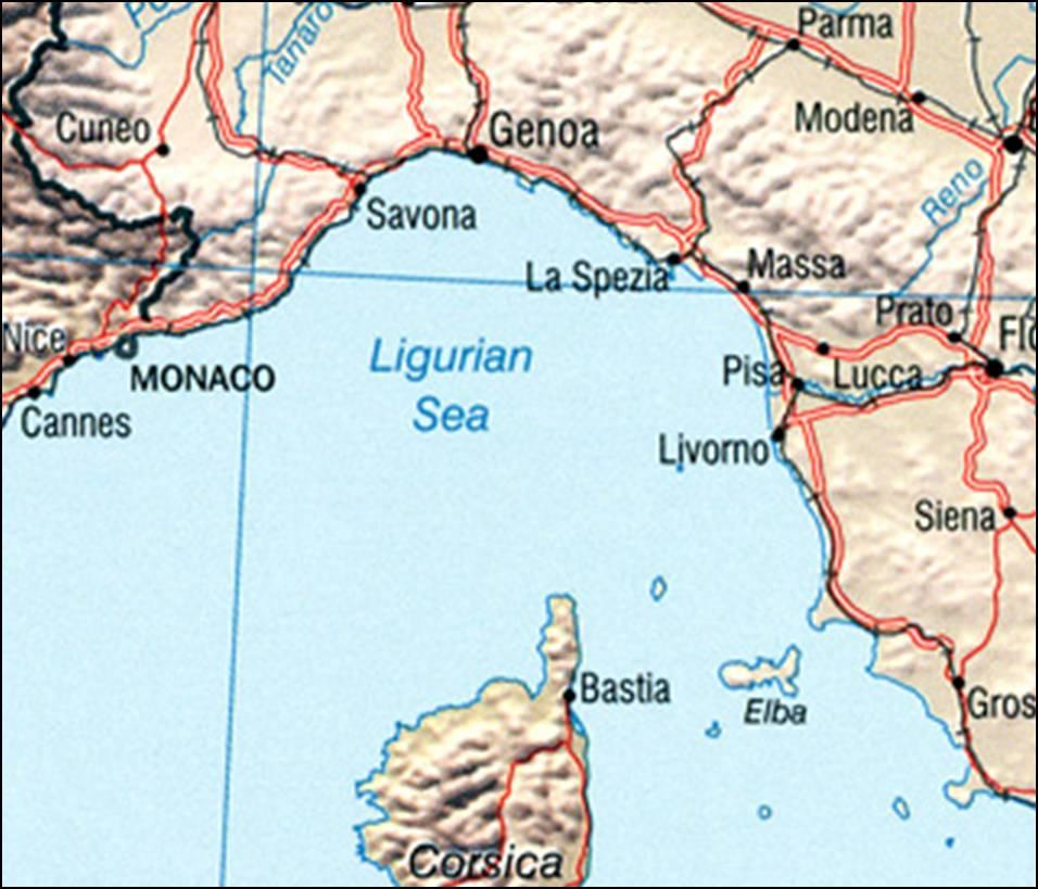 adriatische kust italie kaart