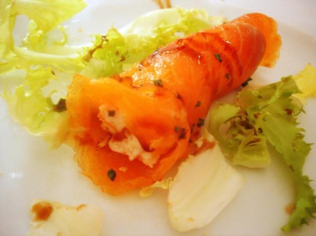 Los Secretos del Chef.- Rollitos de tartar de salmón y langostinos