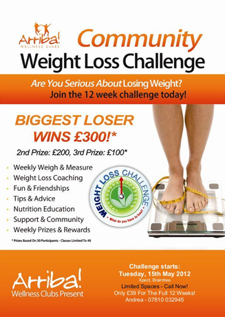 Biggest loser 90 day challenge related keywords biggest for Weight loss challenge flyer template