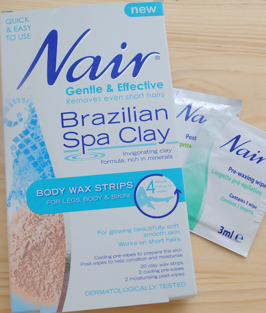 Nair Brazilian Spa Clay Body Wax Strips