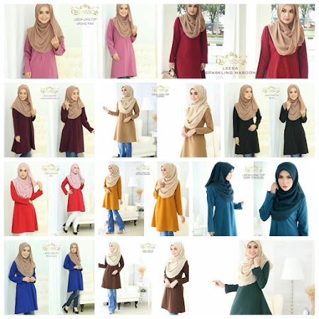 Restock Atas Permintaan Ramai. Leesa Long Top YAng PAling Dinantika