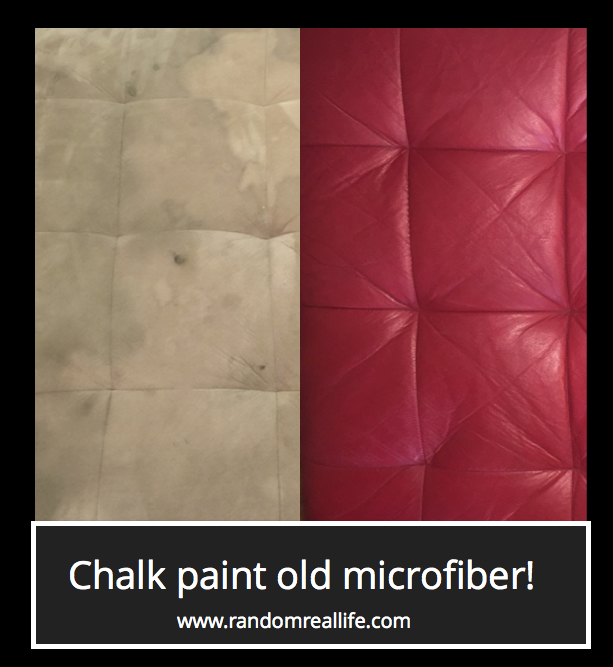 Chalk Painting......A Microfiber Couch?