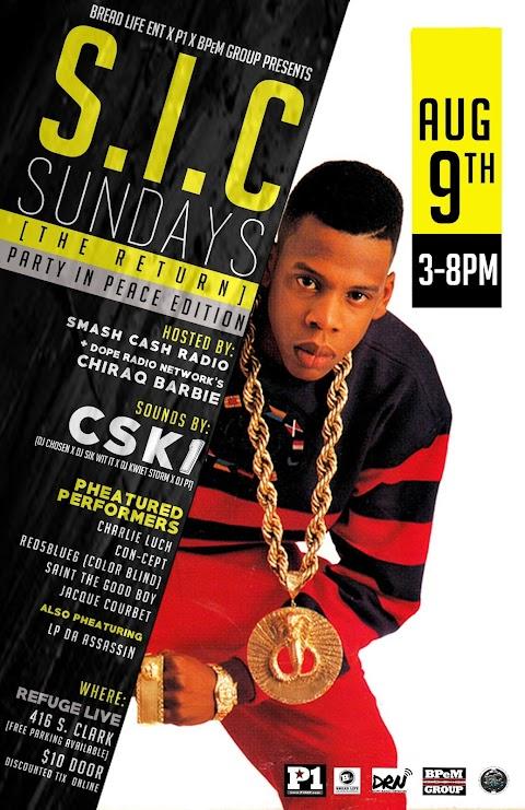 CHICAGO EVENT: SIC Sundays August 9th