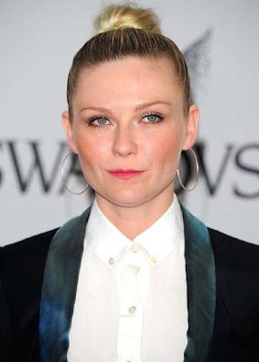 Kirsten Dunst Sterling Hoop Earrings