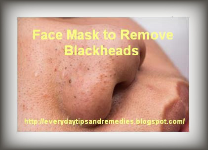 To Homemade remove blackheads facial masks