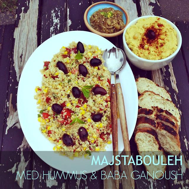 Mezze trio: Tabouleh, baba ganosuh & hummus - Mit livs kogebog