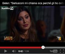 """Belen: Berlusconi pensa che sono oca perché """" non gliel'ho mai data"""""""