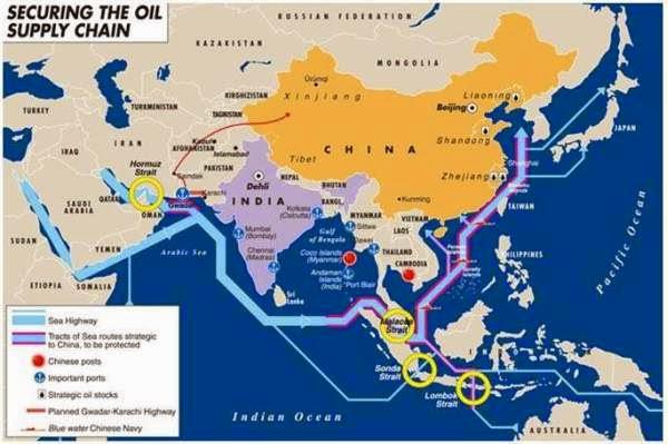 Jalur Export Import China di Selat Malaka