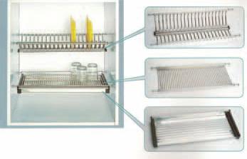 Cocinas integrales j v accesorios cocina cromados for Plateros para cocinas integrales