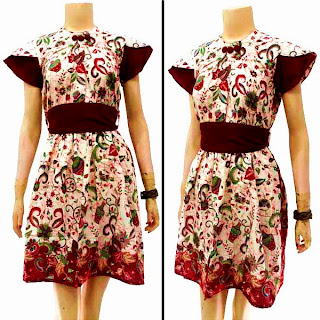 DB3230 Mode Baju Dress Batik Modern Terbaru 2013