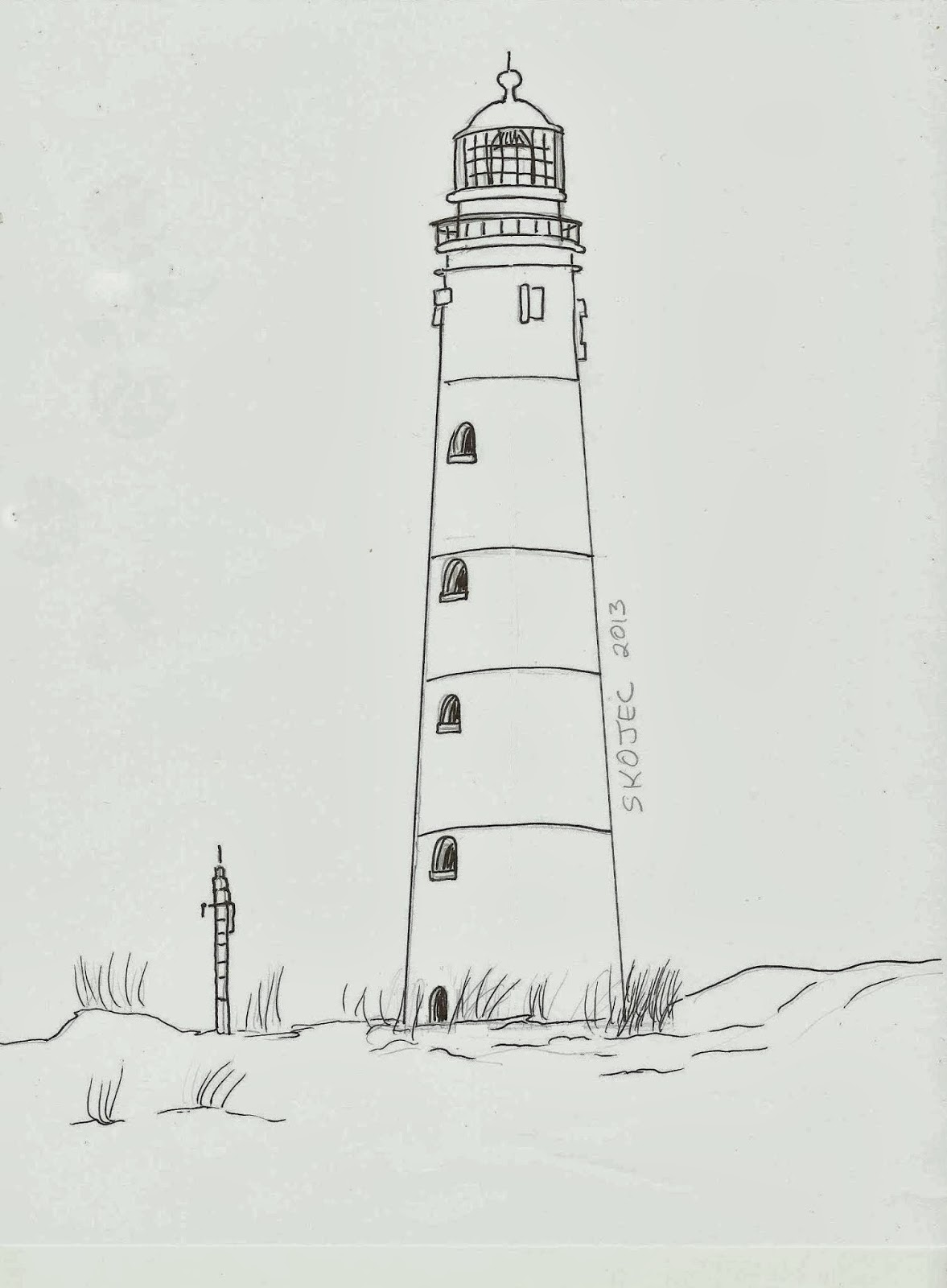 draw a lighthouse art class ideas