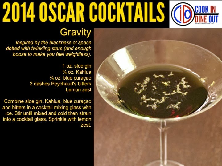 Oscar Cocktails Gravity