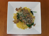Spaghetti Squash with Sausage & Greens