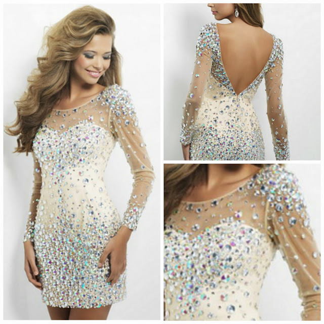Beyonce Style Crystal Dress Okdress