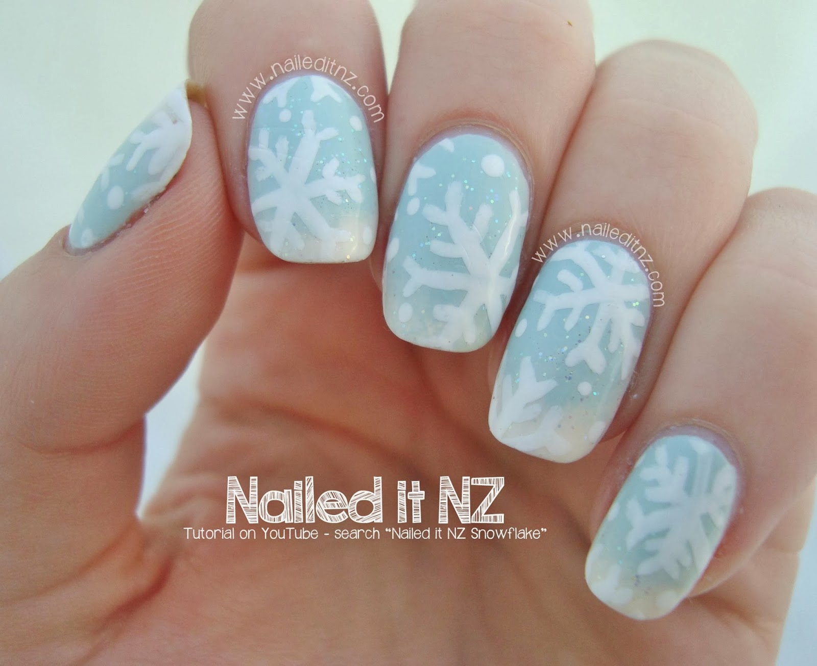 Snowflake Nail Art Tutorial | 12 Days of Christmas Nail Art Challenge