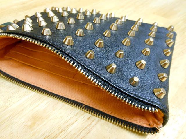 Studded Zara Clutch Bag Fashion Blog