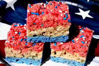 Recipe- Red, White &amp; Blue Rice Krispie Treats