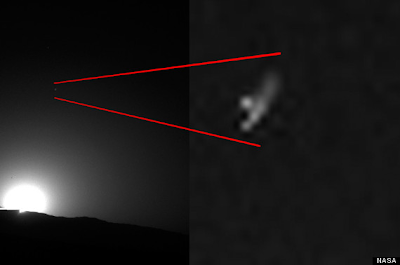 UFO' Photographed Over Mars?