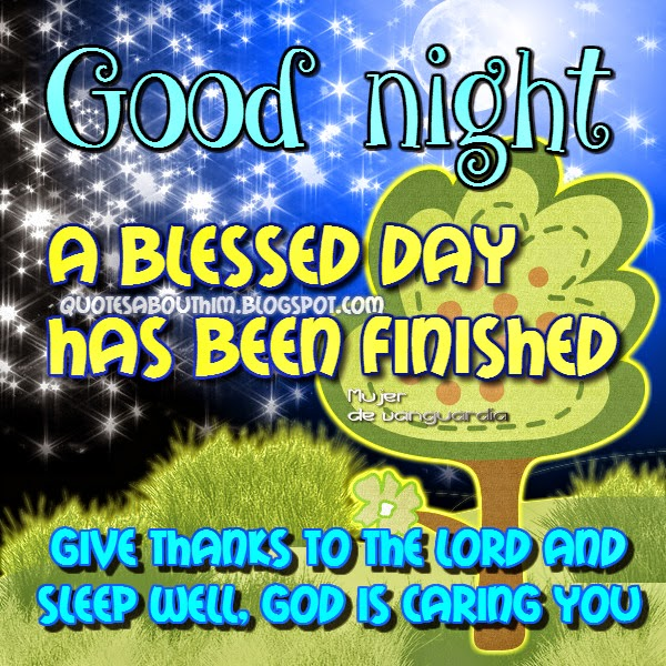 Post Card with Christian message of good night