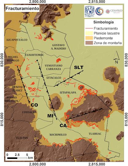 UNAM mapea fracturas en el suelo de la CDMX 2017