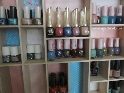 DIY customized nail polish rack