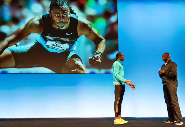 Aries Merritt in NSRL, nike running, running, nike, shoes, apparel, nature amplified, Nike Free Flyknit, Nike Free Hyperfeel, Nike Aeroloft & Nike Dri-FIT Knit